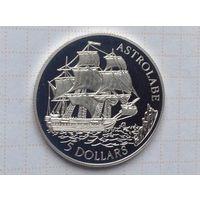 Острова Кука 5 долларов 1992г