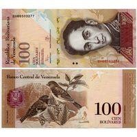 Венесуэла. 100 боливаров (образца 23.06.2015 года, P93i, UNC)