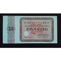 20 марок 1973 года. Германия. UNC. Распродажа.