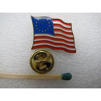 Знак - фрачник. Флаг Соединённые штаты Америки образца 1776 года (тяжёлый, цанга)