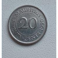 Маврикий 20 центов, 1990 7-1-7