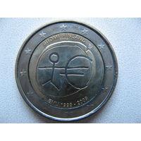 Финляндия 2 евро 2009г. 10-летие монетарной политики ЕС (EMU) и введения евро. (юбилейная) UNC!