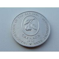 """Гренада.  4 доллара 1970 год  KM#15 """"Ф.А.О""""  Тираж:13.000"""