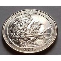 25 центов, квотер США, нац. исторический парк Р. Кларка, штат Индиана, P  D