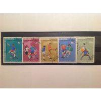Мавритания 1990 Спорт Футбол Чемпионат Мира по Футболу Италия -90 (гашеные)