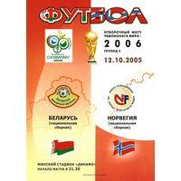 2005 Беларусь - Норвегия