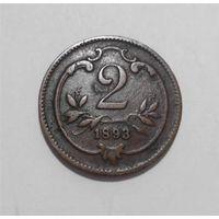 2 геллера 1893 Австрия