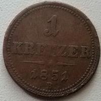 Австрия 1 крейцер 1851