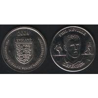 Official England Squad. Defender. Phil Neville -- 2004 England - The Official England Squad Medal Collection (f02)