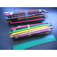 Карандаши цветные 25 шт., простые 25 шт.