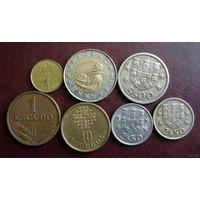 Португалия. 7 монет 1966-1990 г.