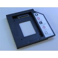 Рамка для установки 2.5 HDD/SSD в отсек 5,25 ноутбука, Delock! Новая, в Наличии!