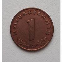 """Германия (3-й рейх) 1 рейхспфенниг 1937 """"A"""" маленькая монетка_Отличный сохран"""