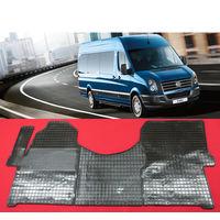 Комплект резиновых автомобильных ковриков на VOLKSWAGEN Crafter 2006 -