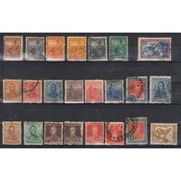 Аргентина Подборка старых гашеных марок из 23-х марок