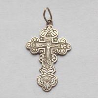 Крестик православный с клеймом 925