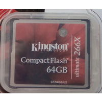 64Gb. Карта памяти Kingston CompactFlash Ultimate 266X 64 Гб. Compact Flash CF. 64 GB 64Гб