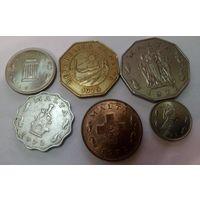 Мальта 5 милс, 1, 2, 5,  25, 50 центов  (1972-1976) набор из 6 монет
