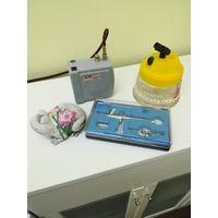 Краскораспылитель, краскопульт, аэрограф, мини компрессор Jas 1211