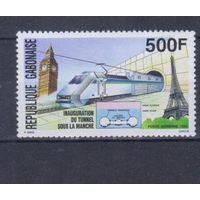 [1108] Габон 1994. Поезда,локомотивы.