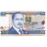 Кения, 20 шилингов, 1996 г., UNC