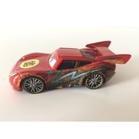 Машинка Дракон Молния Маккуин с масляными пятнами металлик Disney Pixar Cars Toon Dragon Lightning McQueen with Oil Stains Metallic