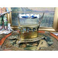Старинный угольный утюг утюжок латунь бронза  Раритет В коллекцию АРТ 02-153