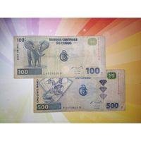 Конго 100 и 500 франков