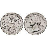 25 центов США 2020   Заповедник Толлграсс-Прери (Канзас) Двор P
