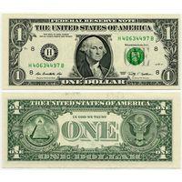 США. 1 доллар (образца 2009 года, H, Миссури, P530, UNC)