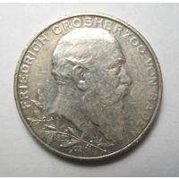 Баден, 2 марки 1902 год, 50 лет правления.