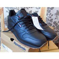 Кроссовки Reebok Classic Leather, черные, р-р 46.