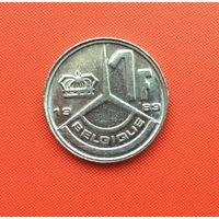 Бельгия, 1 франк 1989 г. Французский тип. Распродажа!