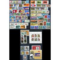 ГДР - 1976г. - Полный годовой набор - MNH [Mi 2107-2198] - 81 марка, 1 сцепка, 3 блока, 1 малый лист