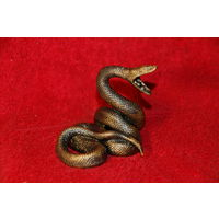 Статуэтка змея , анаконда ,  бронза