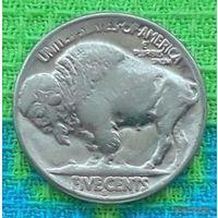 США 5 центов 1935 года, S. Бизон Буффало. Индеец.