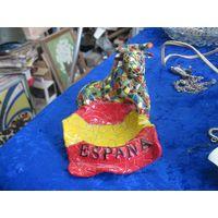 Пепельница Espana, керамопластик, 9*12*8 см.