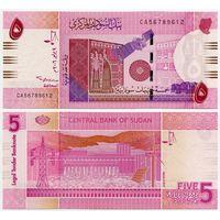 Судан. 5 фунтов (образца 2006 года, P66, UNC)