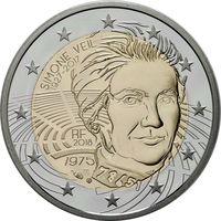 2 евро 2018 Франция Симона Вейль UNC из ролла