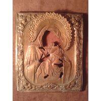 Оклад от иконы Богородица
