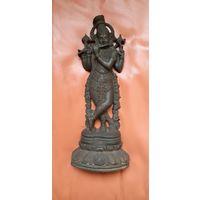 Статуэтка Индийский Бог Кришну, чугун
