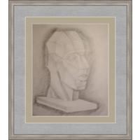 Рисунок, карандаш, голова 90-е
