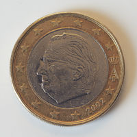 1 евро 2002 Бельгия - БРАК - F