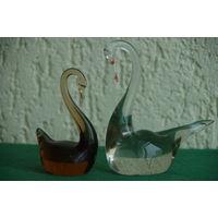 Фигурки из стекла  Лебеди   2шт