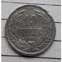 Венгрия 10 филлеров 1908 год