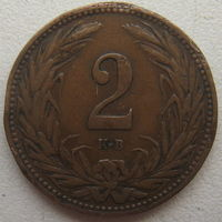 Венгрия 2 филлера 1909 г. (u)