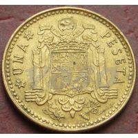 3796:  1 песета 1975 (78) Испания КМ# 806 алюминиевая бронза