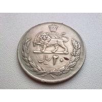"""Иран 20 риалов 1976 """"50 лет династии Пехлеви"""""""