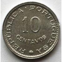 Португальская Сан-Томе и Принсипи 10 сентавос 1971 года.