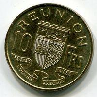 (F3) РЕЮНЬОН - 10 ФРАНКОВ 1964 UNC